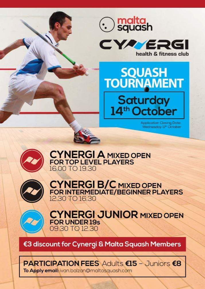 Cynergi Squash Open 2017 Poster